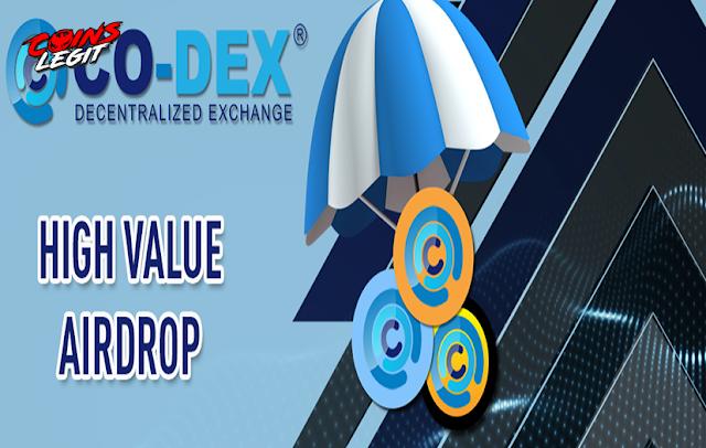 Airdrop Co-DEX Free 250 COD1 Estimate $12.5