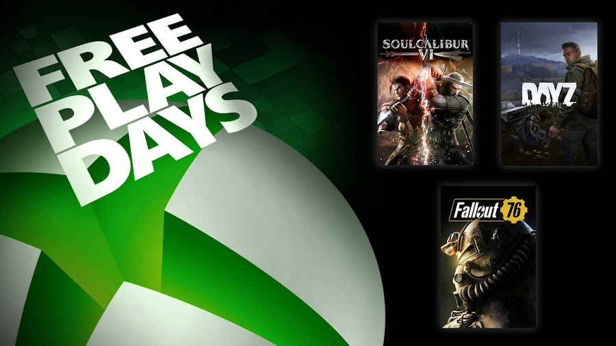 dayz fallout 76 soulcalibur 6 xbox live gold free play days event