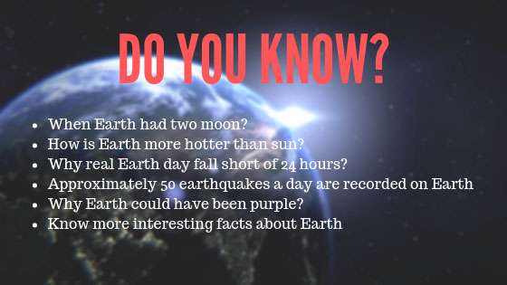 facts about the Earth