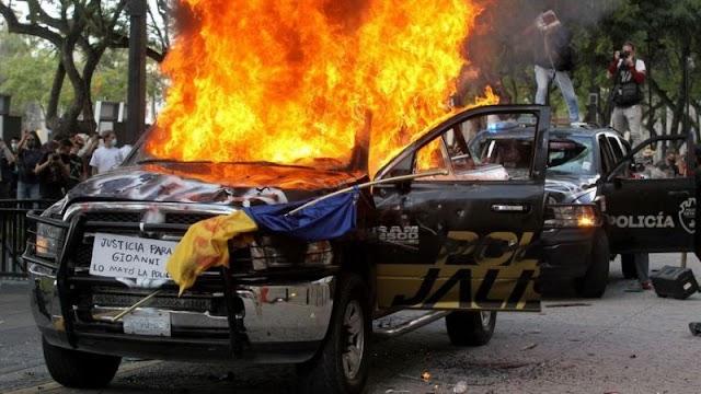 Brutalidad policiaca origina disturbio en Jalisco y CDMX ¡