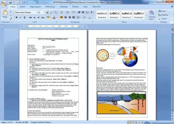 RPP Silabus Prota Promes Perangkat KBM SMP MTs Kelas VII (7) IPS Berkarakter KTSP
