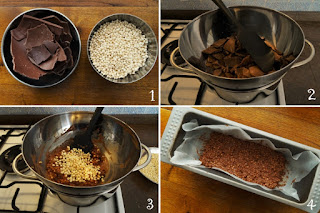 foto preparazione Ricetta barrette di cioccolato al miglio soffiato per bambini