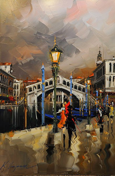 32-The-Power-Of-Love-Kal-Gajoum-Paintings-of-Dream-Like Cities-of-the-World-www-designstack-co