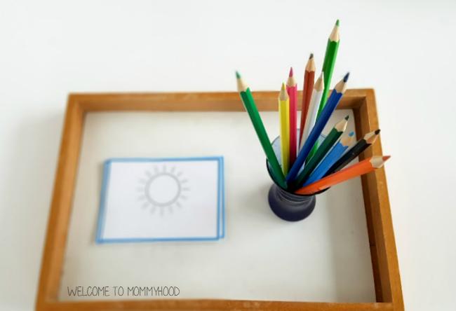 Montessori activities: hands on weather printables and  activities by Welcome to Mommyhood #montessori, #preschool, #scienceactivities, #totlabs, #Montessoriactivities