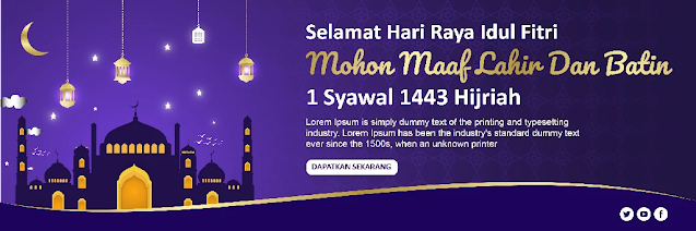 Download Banner Hari Raya Idul Fitri Adobe Illustrator