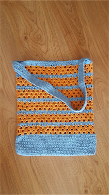 The Sunset at the Sea crochet tote bag - with tutorial