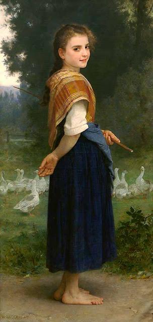 Адольф Вильям Бугро - Пастушка гусей (1891)