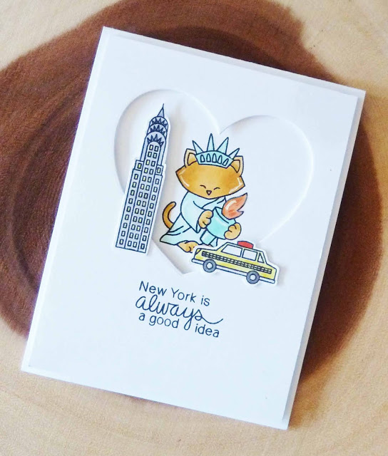 New York is always a good idea by Joyce M. features Newton Dreams of New York City by Newton's Nook Designs; #newyork, #newtonsnook, #inkypaws, #cardmaking