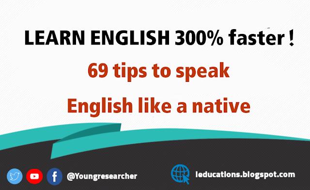 69 tips to speak English like native