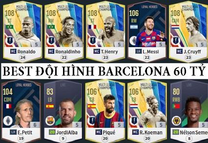 """Xây dựng đội hình """" FC BARCELONA Legend """" khủng 60 Tỷ BP xuất sắc nhất trong Fifa Online 4"""