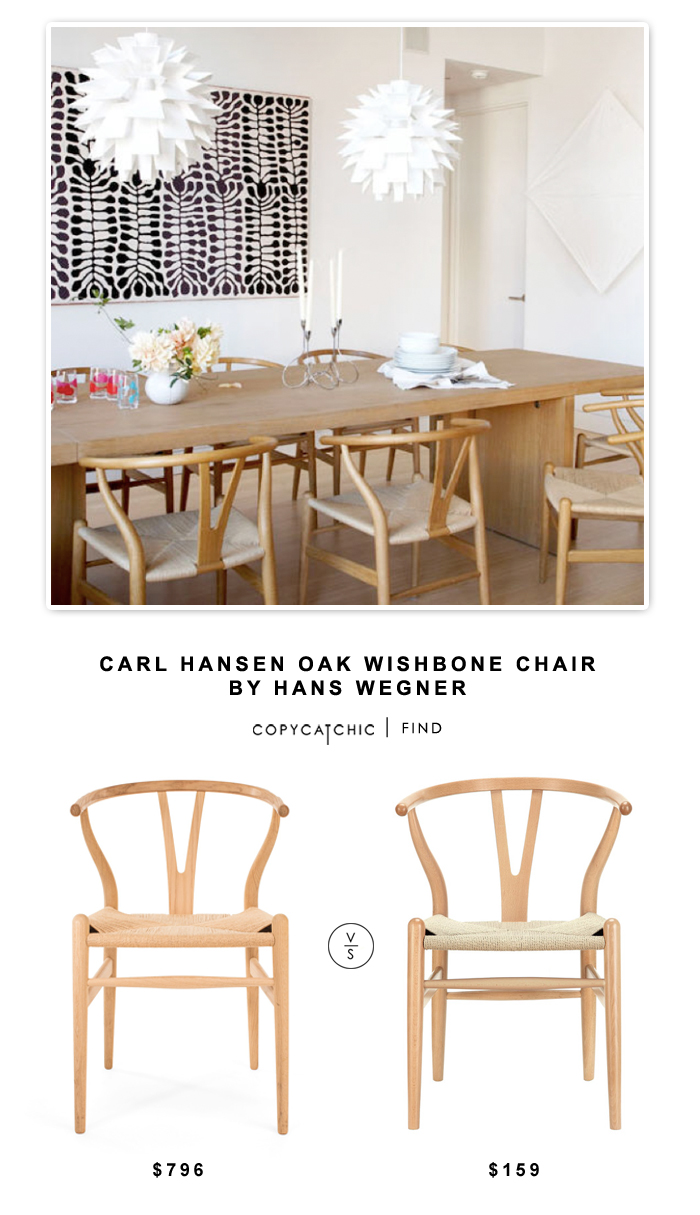 carl hansen oak wishbone chair by hans wegner   copy cat chic