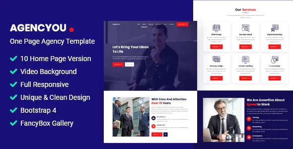 Download One Page Agency Template