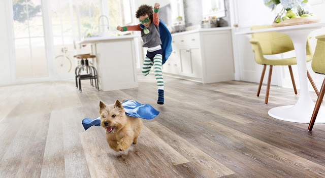 pet-friendly hardwood-look luxury vinyl floors