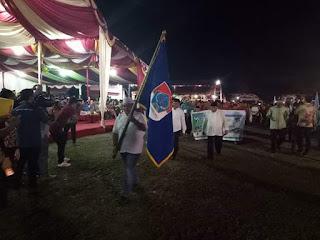 Wabup Pimpin Defile Kafilah Boltim Pembukaan MTQ Tingkat Provinsi Ke-XXVII