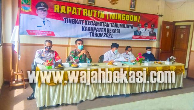 Minggon Pertama Kecamatan Tarumajaya, Dorong Desa Segera Laksanakan Musrenbang