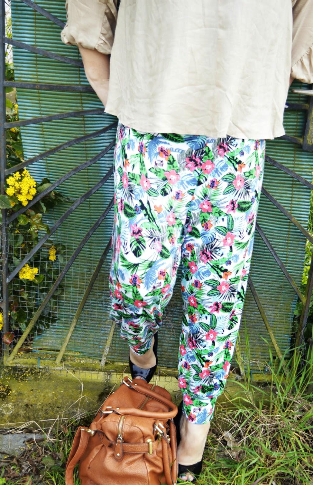 Outfit Post Harem pants & blouse Outfit Photo Details