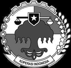 logo koperasi lama hitam putih