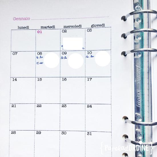 paroladordine agenda 2019 mese
