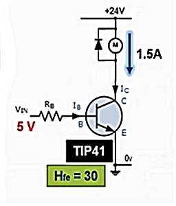 دورة الالكترونيات:تصميم دائرة ترانزستور للتحكم بمحرك