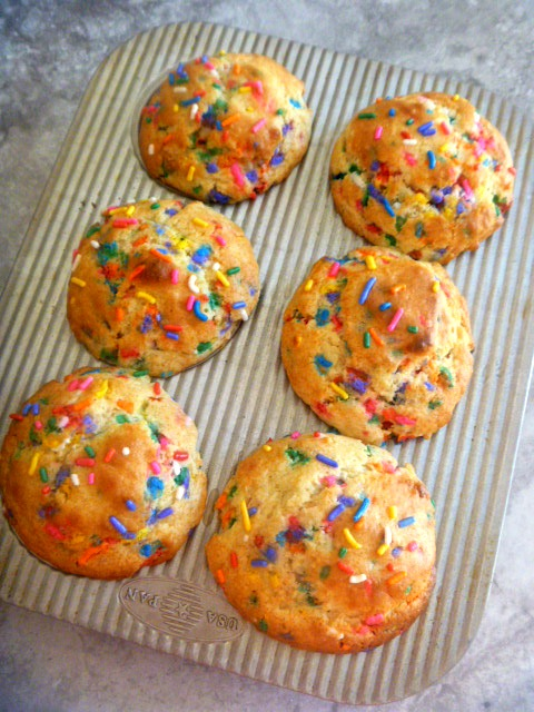 Celebration Muffins are sweet and tender muffins filled with rainbow sprinkles will bring a smile to your face and joy in your heart! - Slice of Southern