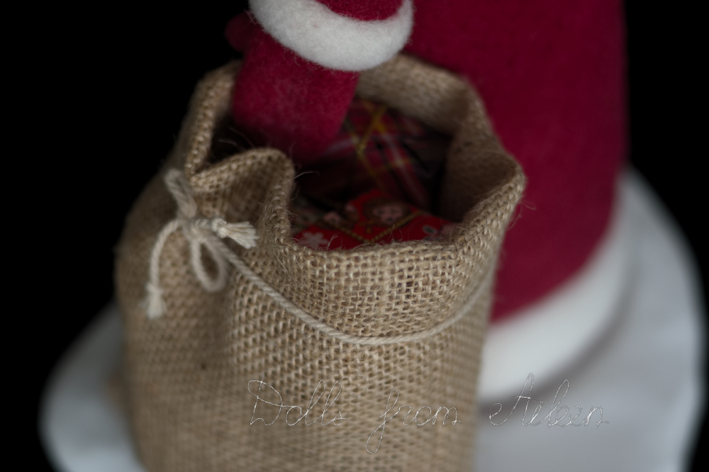 Santa's sack with presents inside