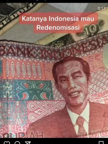 BI Pastikan Uang Redenominasi Rp 100 Bergambar Jokowi Hoax!
