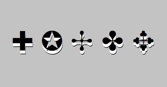Klavyede Olmayan İşaretler, Semboller, Karakterler