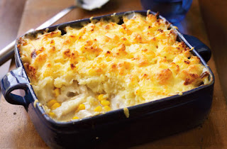 Fish pie with sweetcorn recipe