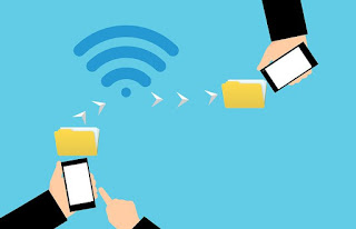 message sending from one mobile device to another through wifi internet