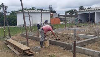 Com novos setores como lavanderia, garagem, cabine gerador  e estacionamento, prossegue obra da UPA da Ilha