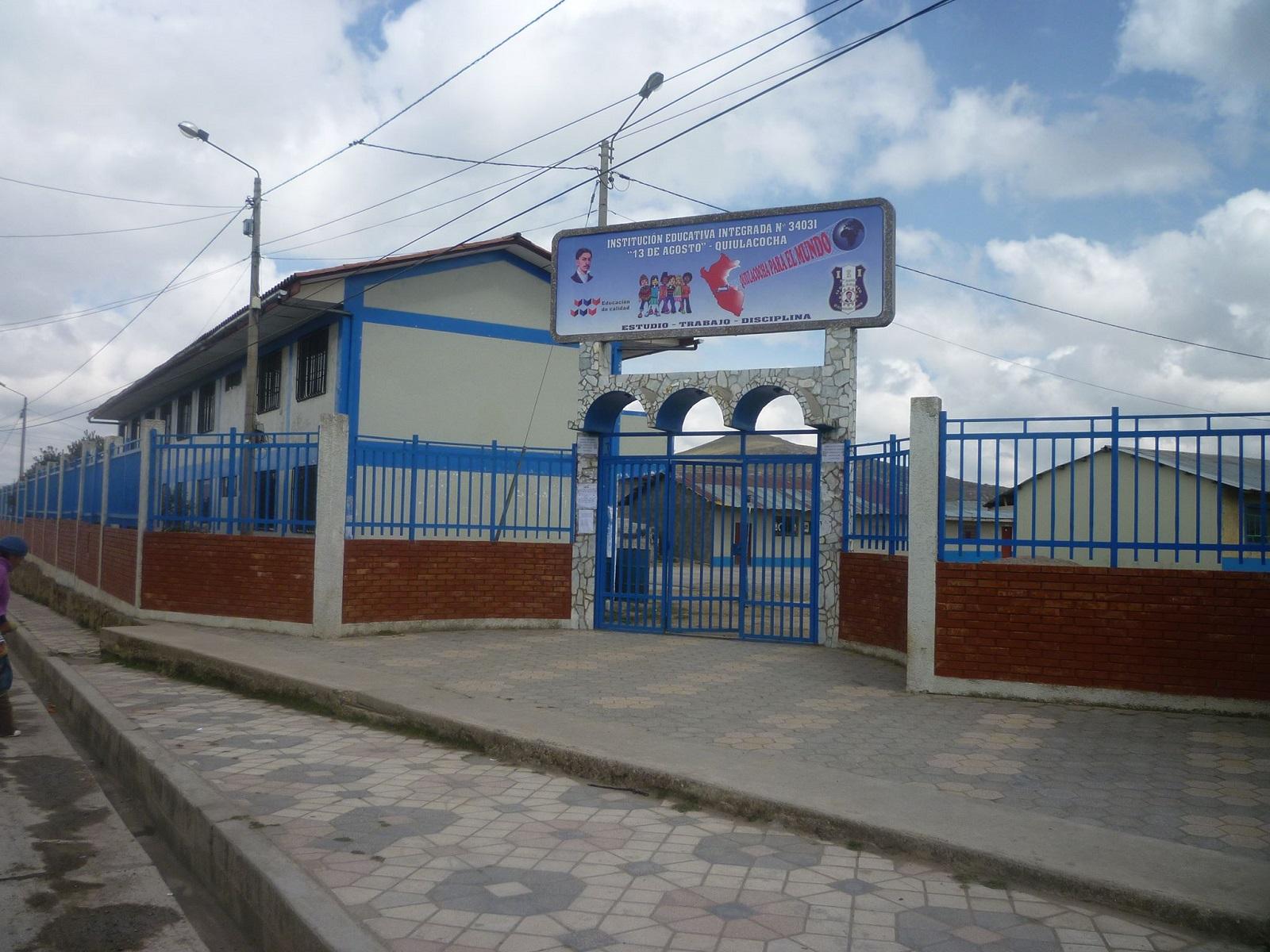 Escuela 13 DE AGOSTO - Quiulacocha