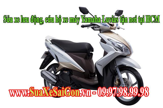 Sửa xe lưu động, cứu hộ xe máy Yamaha Luvias tận nơi tại HCM