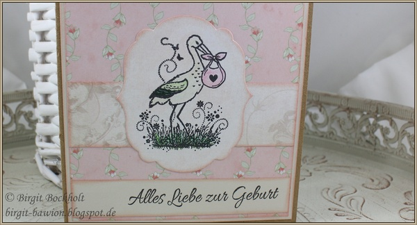 Glückwunschkarte zur Geburt eines Mädchen