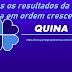 TODOS OS RESULTADOS DA QUINA EM ORDEM CRESCENTE: TODAS AS LISTAS DE CONCURSOS DESDE 1994. Confira: