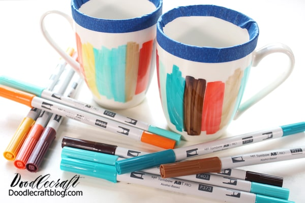Repeat the process for any additional mugs. Make them match or make them similar!