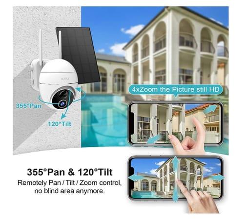 XTU GX1S Solar Powered Wireless Outdoor Security Camera