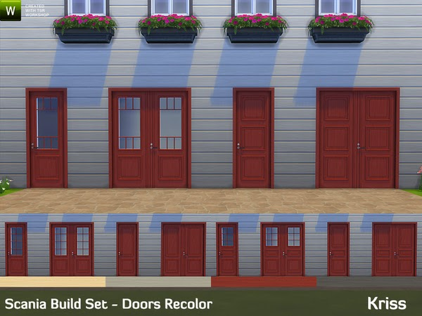 My Sims 4 Blog Scania Window And Door Recolors By Kriss