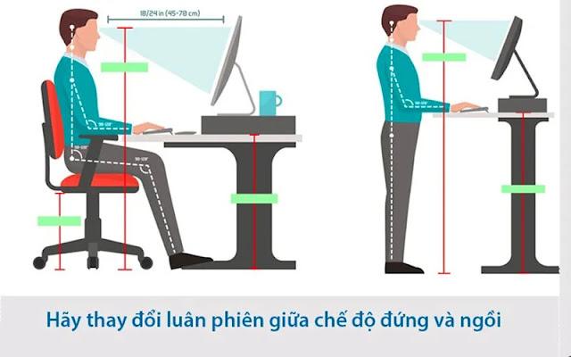 Bàn đứng thay đổi tư thế làm việc linh hoạt