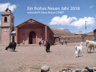 Ein frohes Neues Jahr 2018 wünscht P. Claus Braun CP4BT