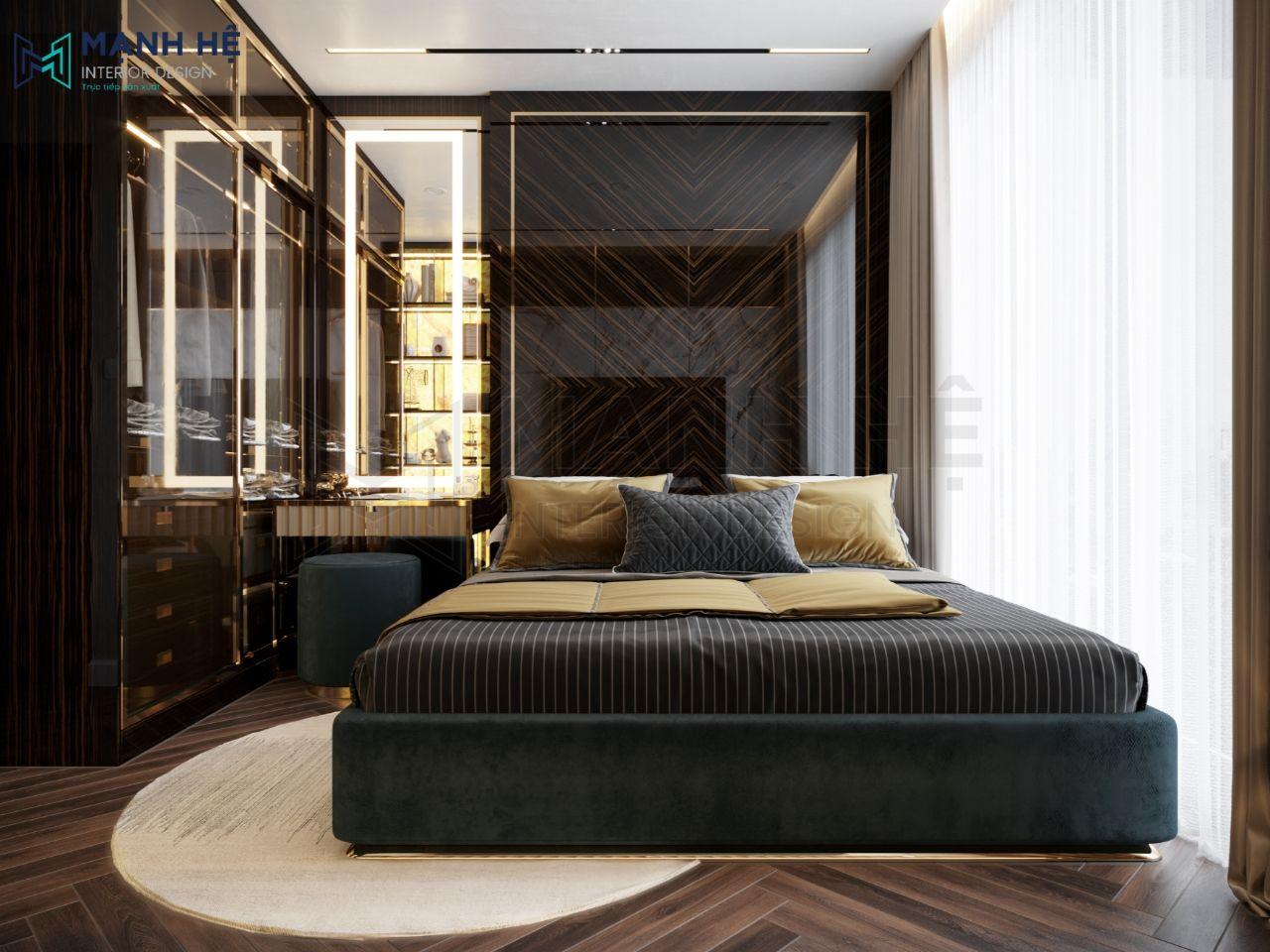 Mẫu Thiết kế phòng ngủ master cao cấp 11m2