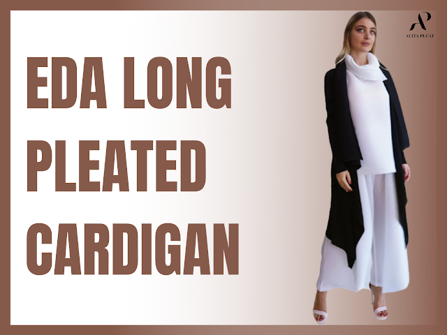 Eda Long Pleated Cardigan