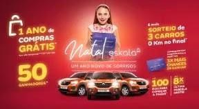 Cadastrar Promoção Lojas Eskala Natal 2019 - 3 Carros e 1 Ano Compras Grátis