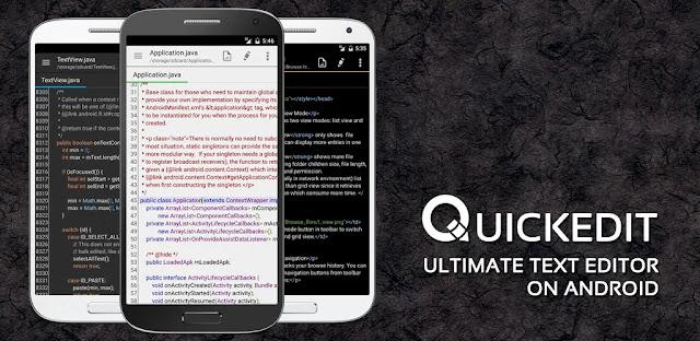 تنزيل QuickEdit Text Editor Pro  أفضل برنامج تحرير النصوص للاندرويد اخر اصدار