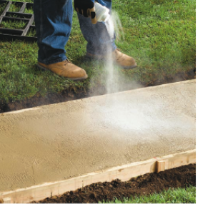 Fig.4: Preparation of Concrete Surface for Stamping