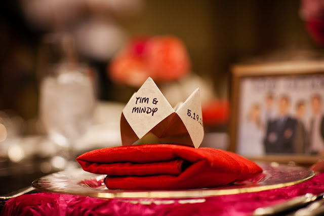 Cootie Catcher Menus - Wedding Reception in Trillium Room, Grand Californian Hotel