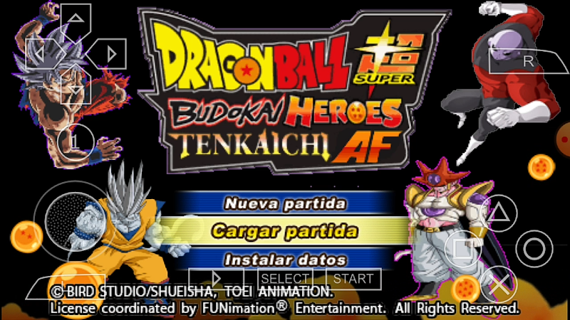 Download New Android Game DBZ BT3 PSP MOD ISO With Permanent Menu
