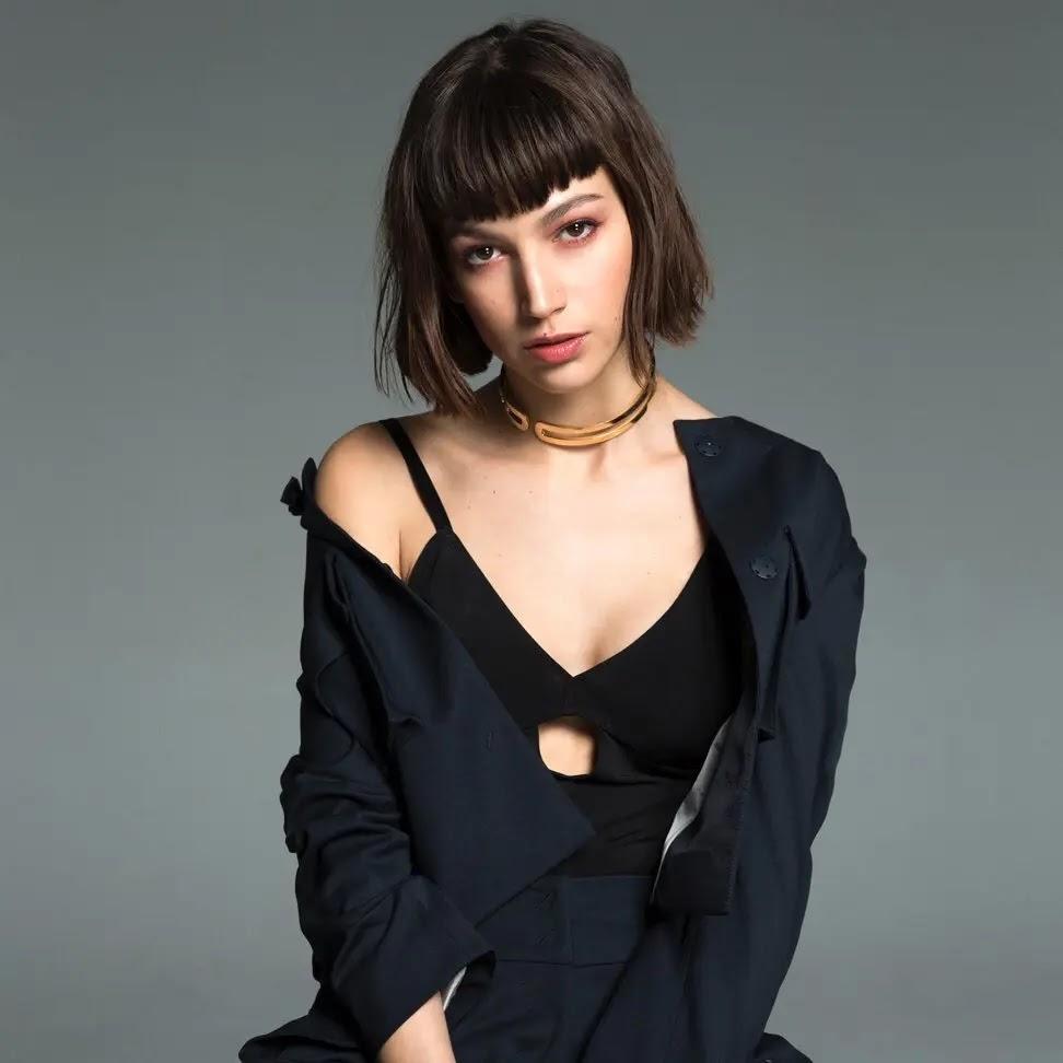 Ursula Corbero in black