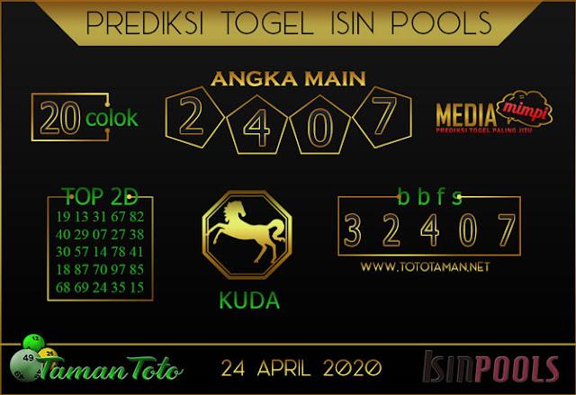 Prediksi Togel ISIN TAMAN TOTO 24 APRIL 2020