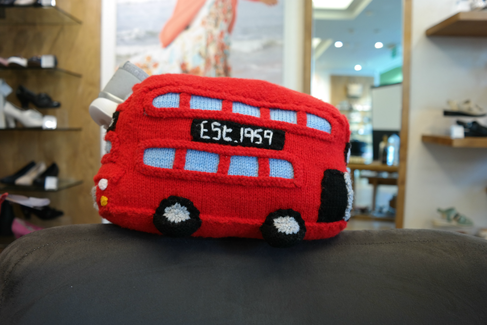 Hotter Shoes Aberdeen Blogger Event: Knitted Bus