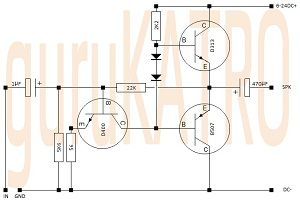 Mini Amp Transistor 6-24V Single Supply